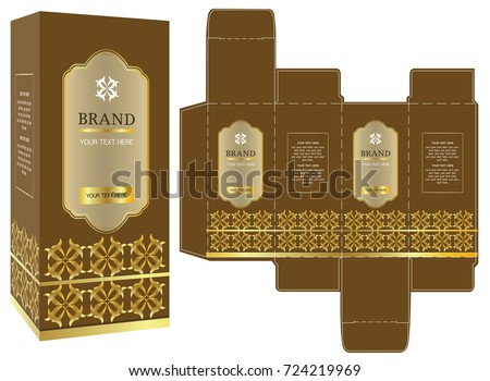 Packaging Design Gold Luxury Box Design Stock Photo (Photo, Vector ...