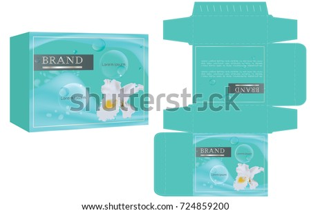 Packaging design natural concept soap box stock vector for Soap box design template