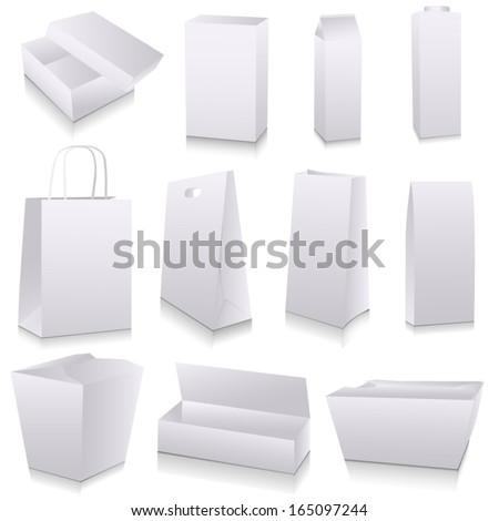 Packaging dummies - stock vector