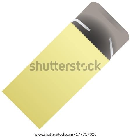 Packaging for tablets of cardboard. Vector illustration. - stock vector