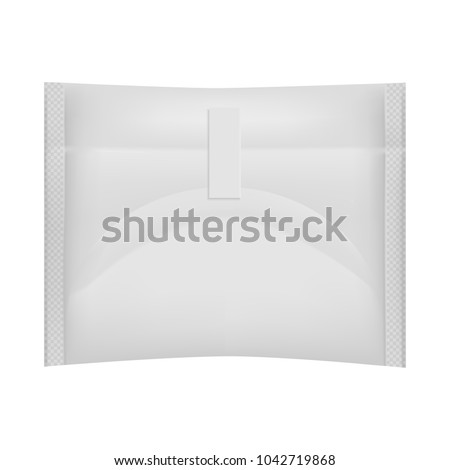Packaging hygienic sanitary napkin,  on a white background. Menstruation days.