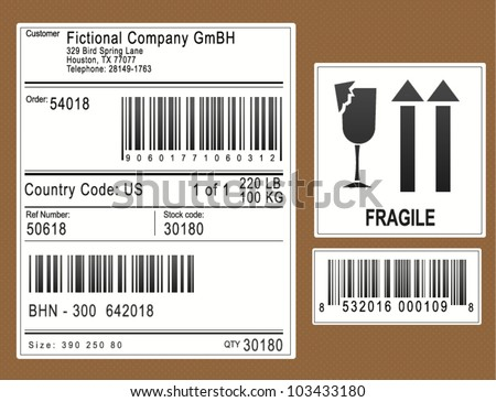 Packaging Labels / Stickers - stock vector
