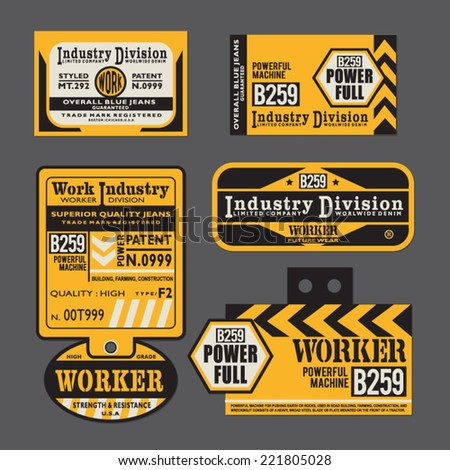 Packaging Labels,tags - stock vector
