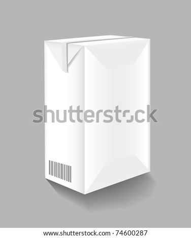 Packaging of milk is shown in the picture - stock vector