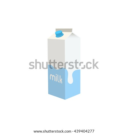 Packaging of milk. Milk box. Vector illustration