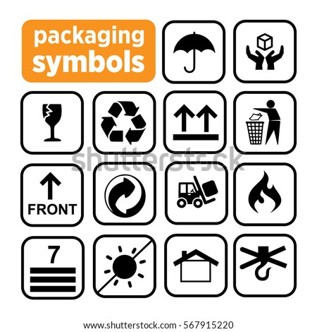 Packaging Symbols Recycling Icons Waste Recycling Stock Vector