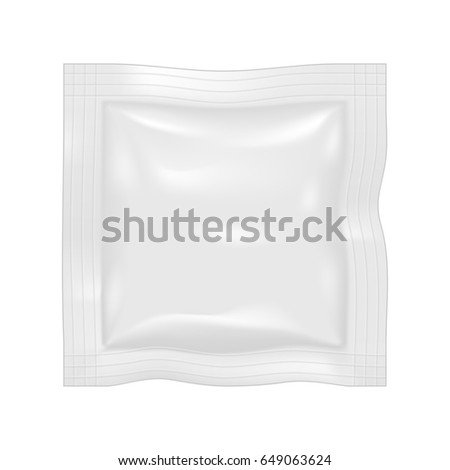 Packing for the isolation of the product on a white background. Graphic concept for your design