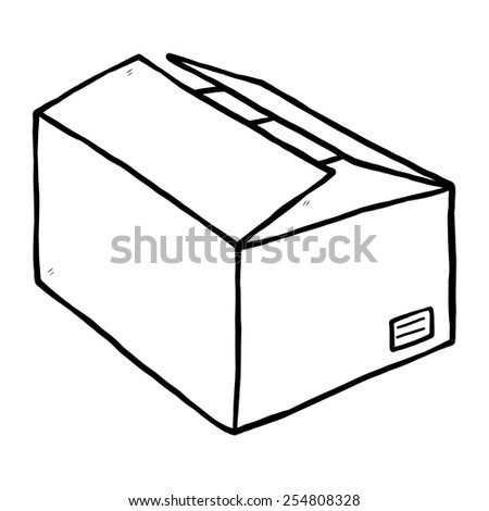 Cartoon Cardboard Box Stock Photos Royalty-Free Images U0026 Vectors - Shutterstock