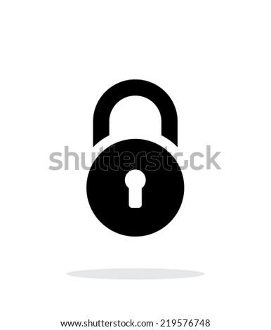 Padlock icon on white background. Vector illustration. - stock vector