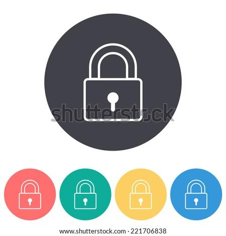 Padlock icon , vector illustration - stock vector