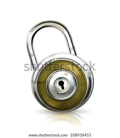Padlock, old-style vector isolated