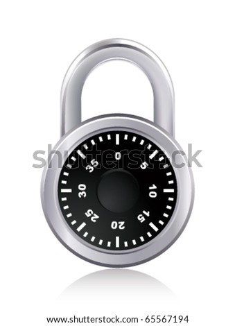 Padlock on white. Vector