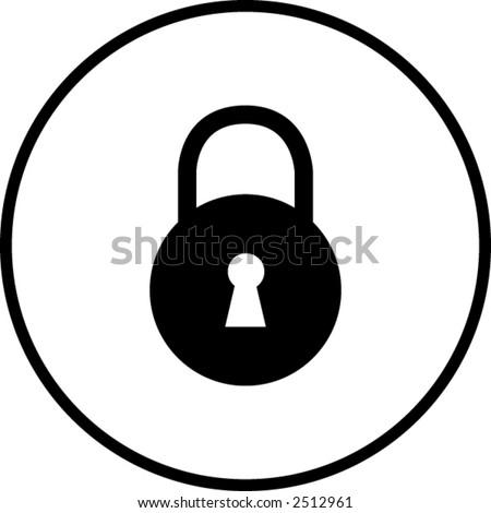 padlock symbol - stock vector