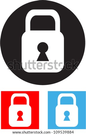 Padlock - Vector icon - stock vector
