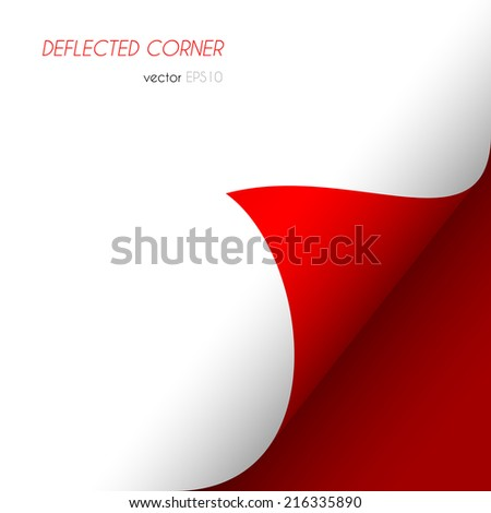 Page curled corner. Easy to edit vector image