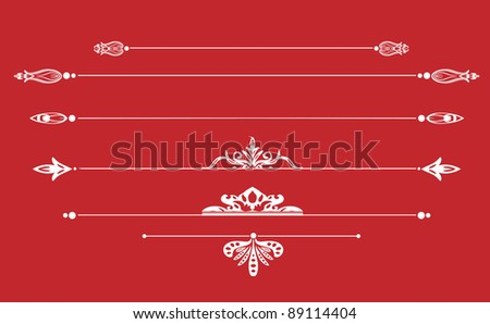 page decoration vector set - stock vector