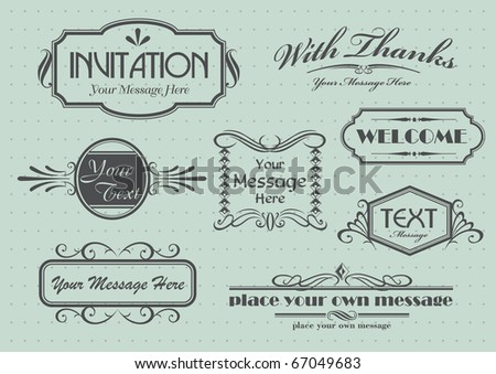 Page decoration with calligraphic elements design - stock vector