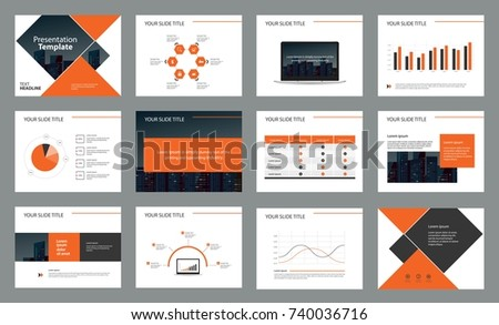 Page Design Business Presentation Template Report Stock Vector ...