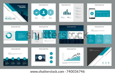 Page Design For Business Presentation Template And For Report , Company  Profile ,brochure And Book