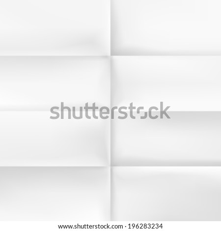Page Folded piece of paper, Template design element, Vector background