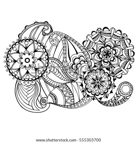 Page For Coloring Book Very Interesting And Relaxing Job Children Adults Zentangle