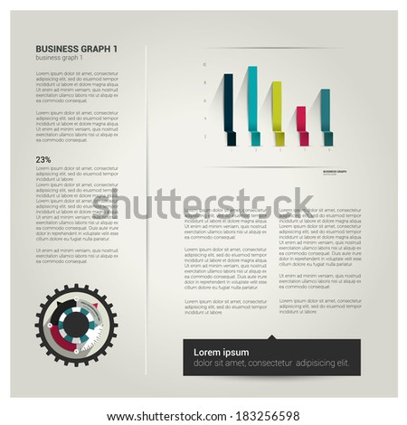 Page layout design. - stock vector