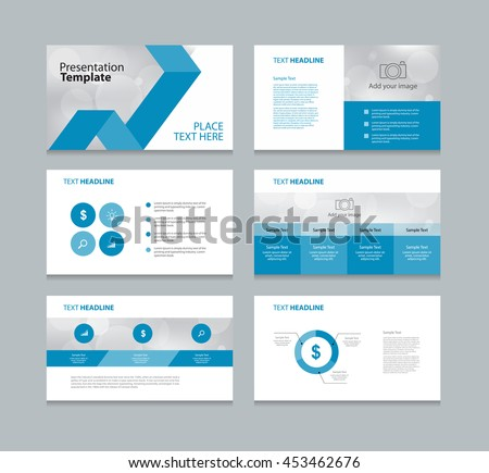 page layout design template presentation brochure stock vector, Powerpoint templates