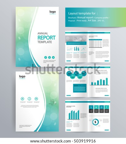 page layout company profile annual report stock vector 503919916 shutterstock. Black Bedroom Furniture Sets. Home Design Ideas
