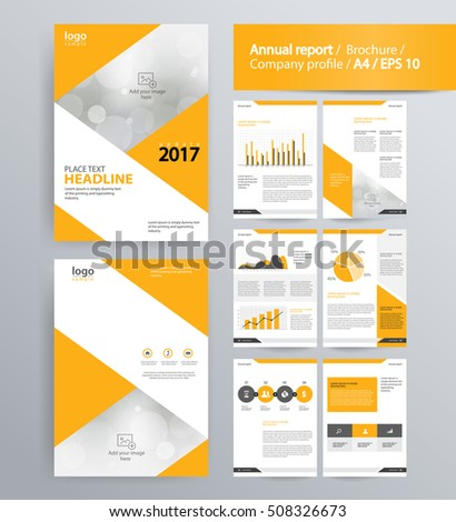 Page Layout Company Profile Annual Report Vector 508326673 – Company Profile