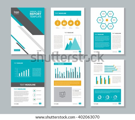 Vector Blue Template Multipurpose Presentation Slides Stock Vector