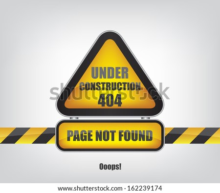 Page not found error 404 - stock vector
