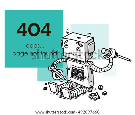 404 not found html template - broken robot stock images royalty free images vectors