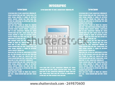 Page 4 of 8 with abstract calculator  for info graphic, presentation, books, documents, web design etc - stock vector