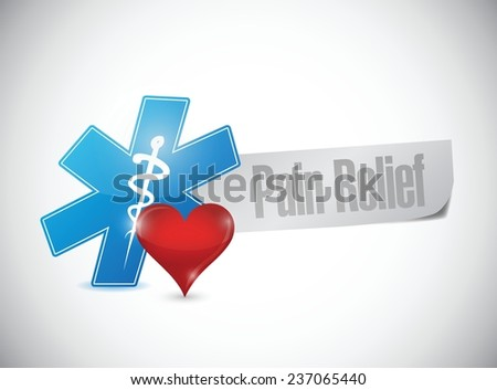 pain relief medical sign illustration design over a white background - stock vector