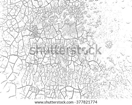 Paint Black.Grunge cracked Background.Texture Vector.Dust Overlay Distress Grain ,Simply Place illustration over any Object to Create grungy Effect .abstract,splattered ,dirty,poster for your design.  - stock vector