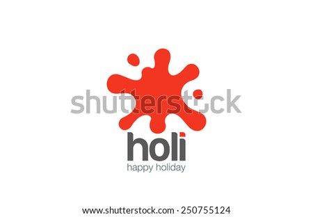 Paint Blob Logo abstract design vector template. Children entertainment logotype concept splash icon. - stock vector