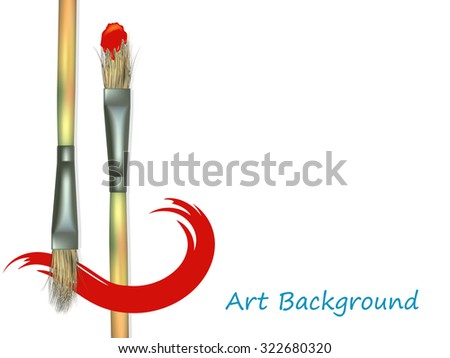 Paint brush. Abstract background, vector illustration