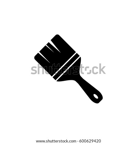 paint brush icon stock vector 600629420 shutterstock rh shutterstock com paint brush vector graphics paint brush vector graphics