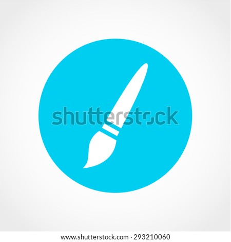 Paint brush Icon Isolated on White Background - stock vector