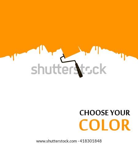 Paint brush, vector - stock vector