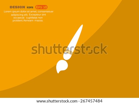 Paint brush vector icon - stock vector