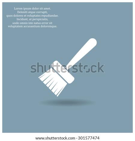 Paint brush. Vector icon. Flat design style - stock vector
