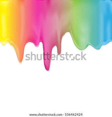 Paint color dripping, eps10 vector - stock vector