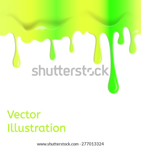 Paint pink dripping background. Vector illustration - stock vector