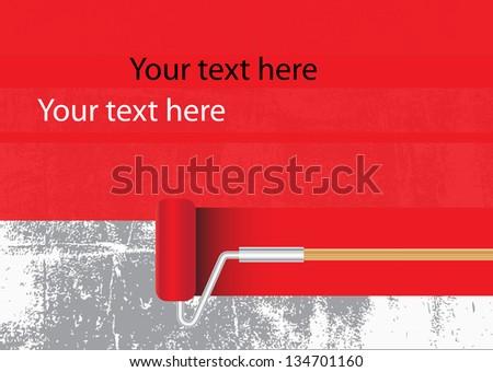 Paint roller - stock vector