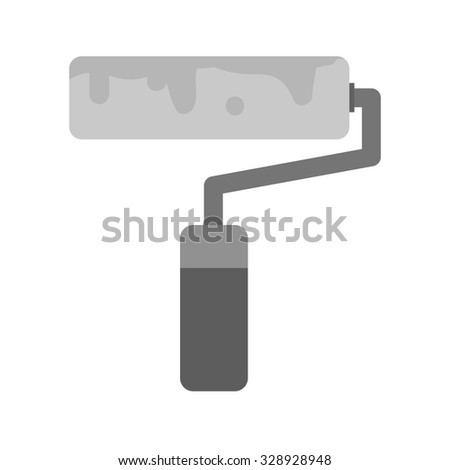 Paint, roller, brush icon vector image. Can also be used for household objects. Suitable for use on web apps, mobile apps and print media.
