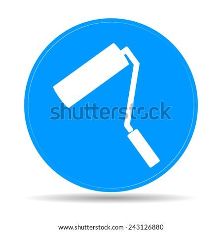 Paint roller icon. Flat vector illustration - stock vector