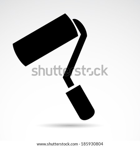 Paint roller icon isolated on white background. VECTOR illustration. - stock vector