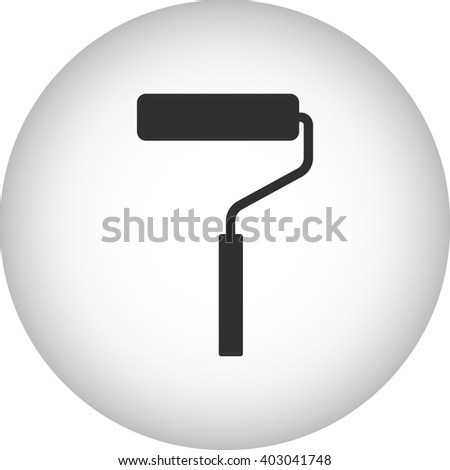Paint roller sign simple icon on  background