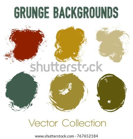 Paint Samples Choice Palette Brush Stroke Stock Vector 738527551